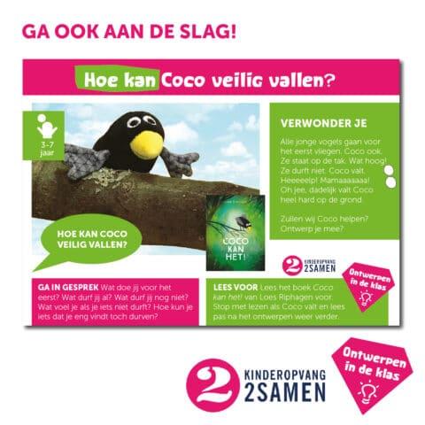 Coco ontwerpkaart 1 Kinderopvang 2Samen Den Haag Naaldwijk Monster