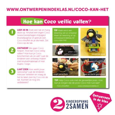 Coco ontwerpkaart 2 Kinderopvang 2Samen Den Haag Naaldwijk Monster